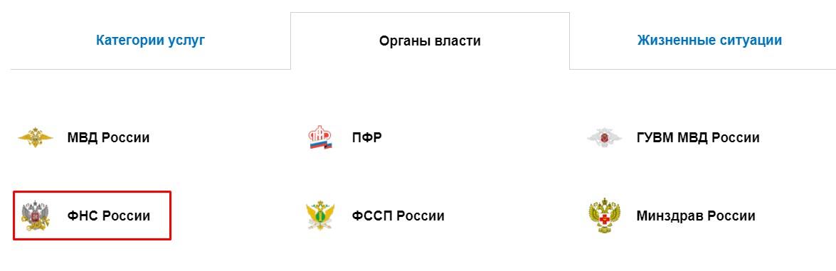 Органы власти - ФНС России