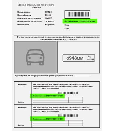 УИН - номер квитанции для оплаты штрафа