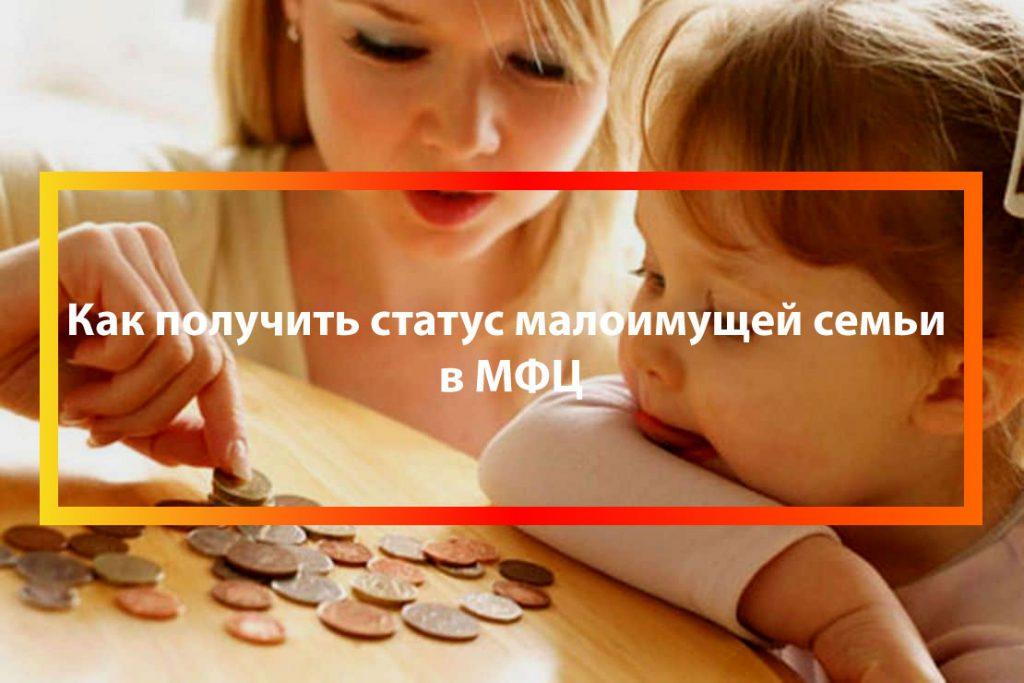 Получение статуса малоимущей семьи через МФЦ